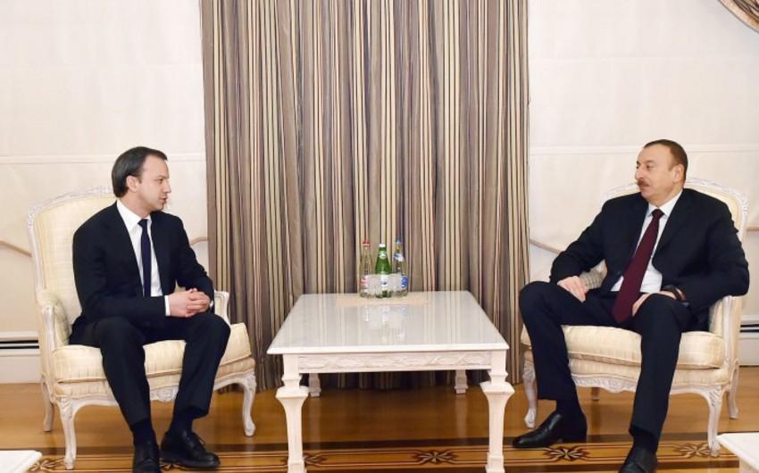 Azərbaycan Prezidenti Rusiya Hökuməti sədrinin müavinini qəbul edib