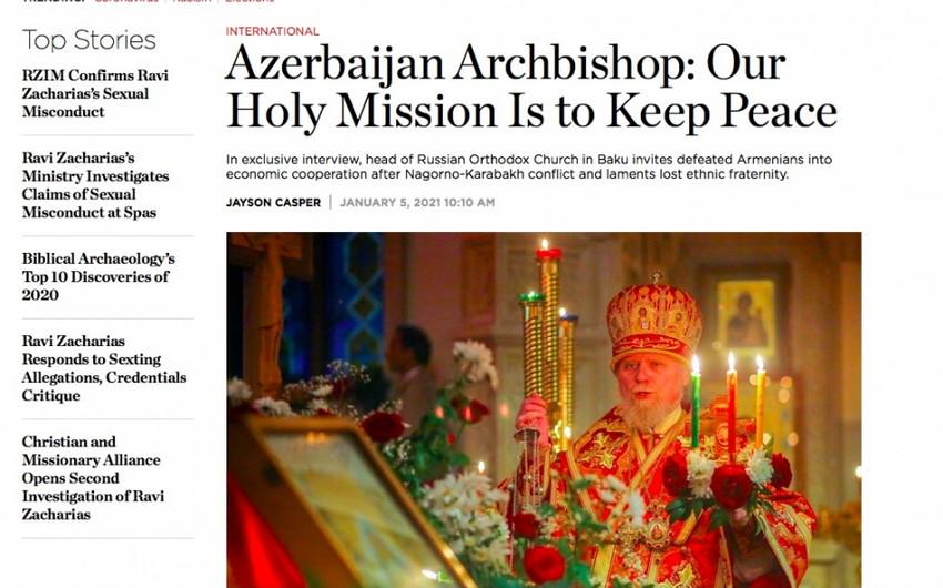 Глава Бакинской епархии: Нашей священной миссией является сохранить мир