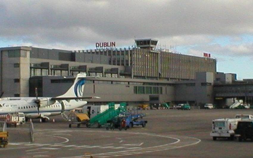 Dublin aeroportunda təyyarələrin uçuşu dayandırılıb