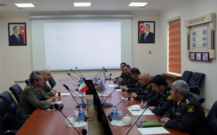 Azerbaijan and Italy Defense Ministries' experts on civil-military cooperation held a meeting
