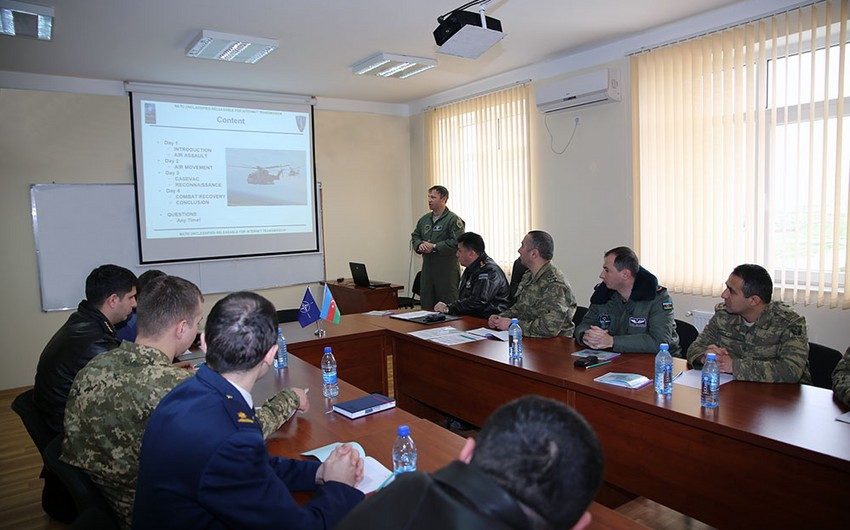 NATO's Mobile Training Team conducts a seminar in Baku