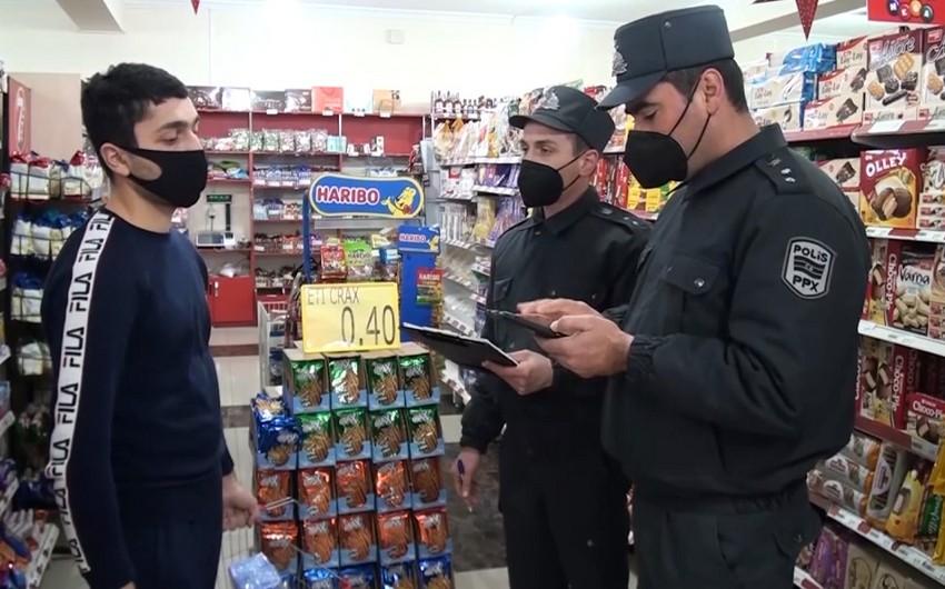 Balakəndə polis karantin rejimi ilə əlaqədar nəzarət-profilaktik tədbirlər keçirir