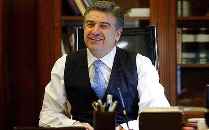 Ermənistanın baş naziri vəzifəsini icra edən Karen Karapetyan istefa verib