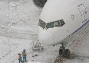 Самолет с футболистами Атлетика не смог приземлиться в Мадриде из-за снегопада и улетел обратно