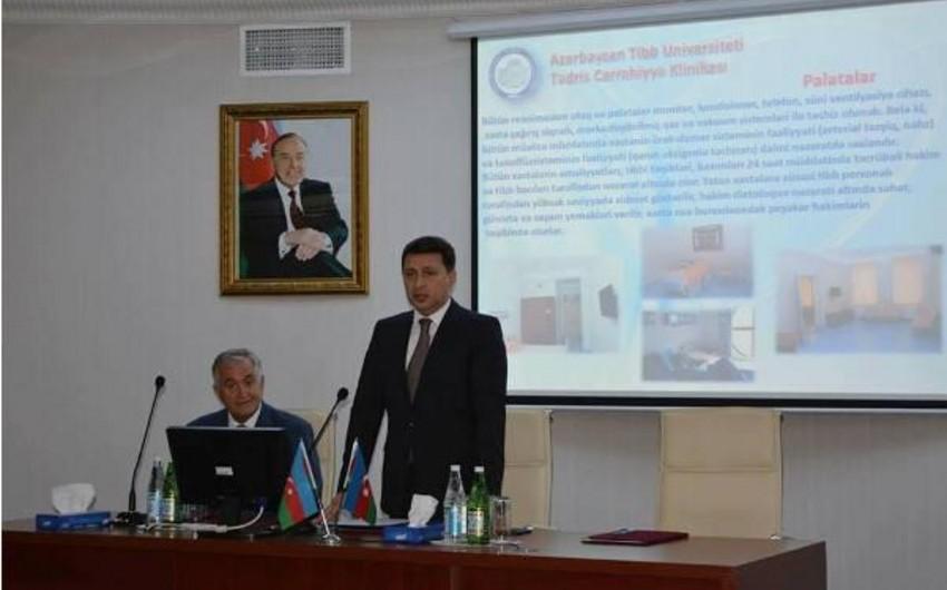 ATU-nun Tədris Cərrahiyyə Klinikasına yeni direktor təyin olunub - FOTO
