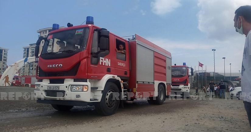 Next group of Azerbaijani firefighters reaches Turkey's Ordu