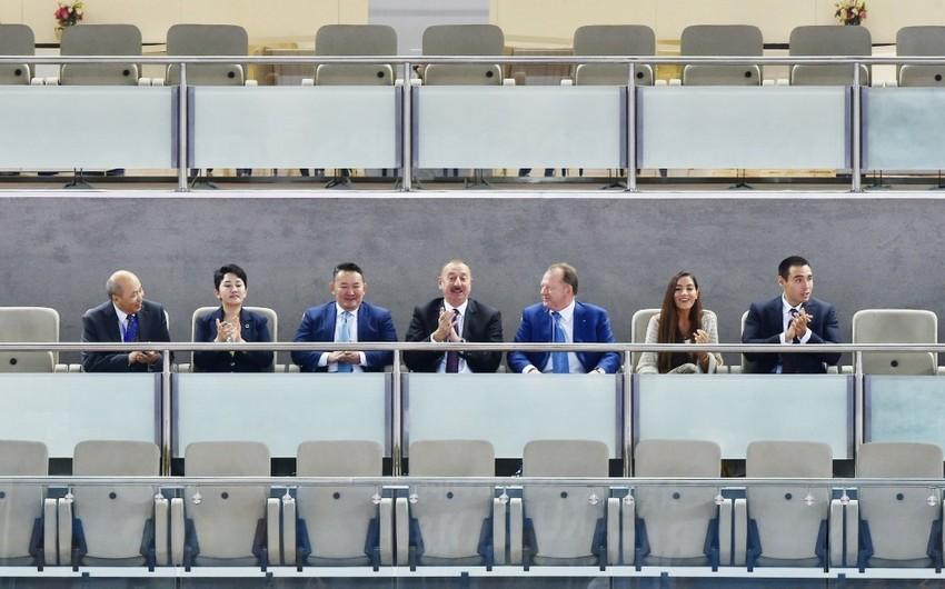 Prezident İlham Əliyev cüdo üzrə dünya çempionatında final görüşünə baxıb - YENİLƏNİB