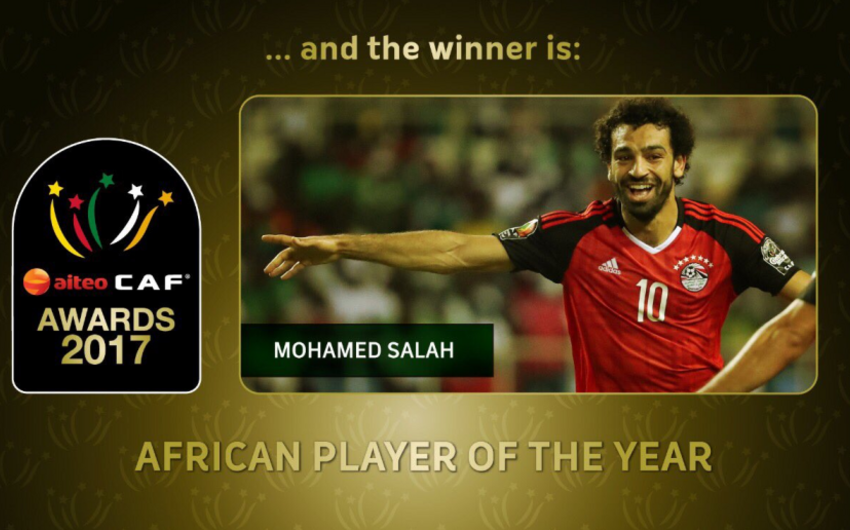 Named the best African footballer of 2017 year