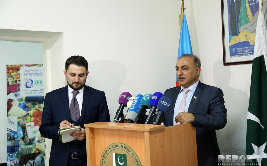 """Səfir: """"Pakistanın Şimal-Cənub nəqliyyat dəhlizinə qoşulması üzərində iş gedir"""""""