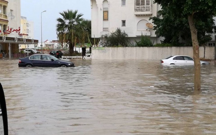 Tunisdə aramsız leysan yağışları nəticəsində 6 nəfər ölüb