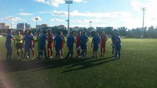 Состоялся футбольный матч между спортивными журналистами Азербайджана и Беларуcи с целью поддержки II Евроигр