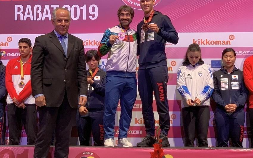 Rafael Ağayev Karate1 Premyer Liqa turnirində bürünc medal qazanıb - FOTO