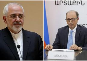 Iranian, Armenian FMs hold phone talk