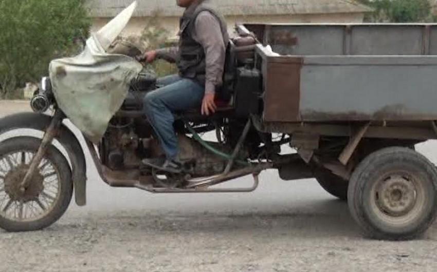 Salyan sakini qeyri-adi motosikl düzəldib - FOTO