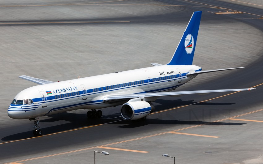 The plane, en route from Baku to Nakhchivan made a forced landing