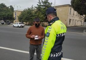 Yol polisi Qaxda reyd keçirib