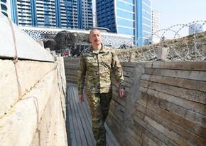Qalib Ali Baş Komandan Hərbi Qənimətlər Parkında - FOTOREPORTAJ