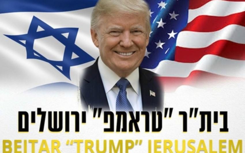 İsrailin futbol klubu öz adına Donald Trampın soyadını əlavə edib