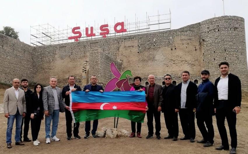 Qazaxıstan parlamentinin nümayəndə heyəti Şuşa və Füzulidə olub