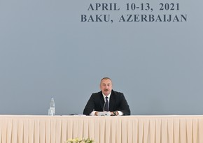 President on what will happen when Russian peacekeepers leave Karabakh