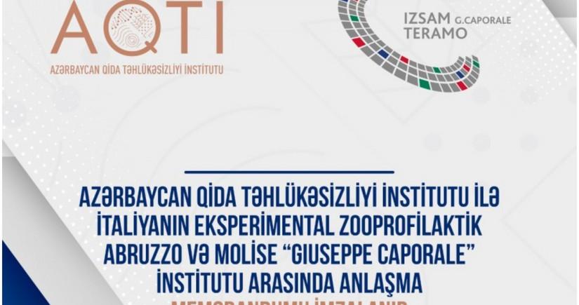 Azərbaycan heyvan sağlamlığı sahəsində İtaliya ilə əməkdaşlıq edəcək