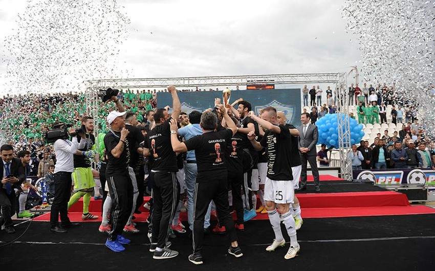Futbol üzrə Azərbaycan Kubokunun finalçıları mükafatlandırılıblar