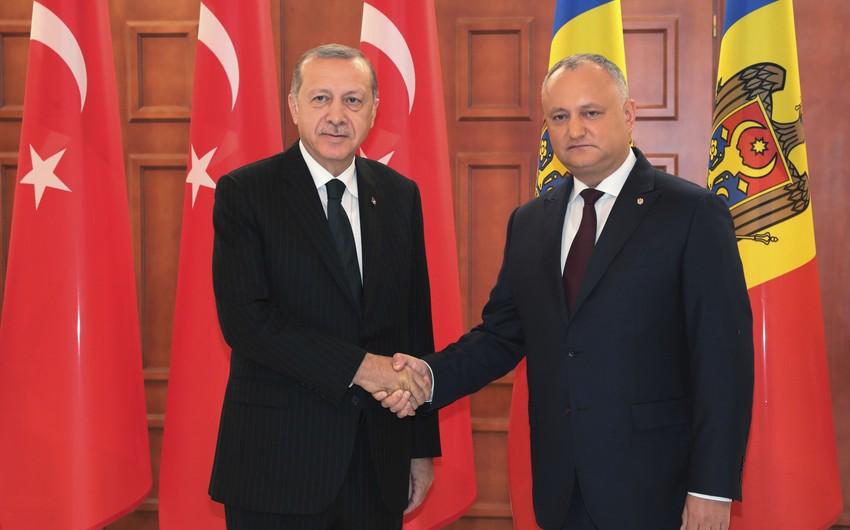 Эрдоган и Додон обсудили сотрудничество
