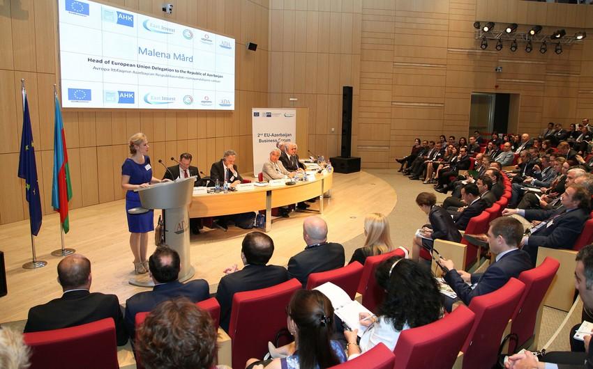 Bakıda Azərbaycan-Avropa İttifaqı biznes-forumu keçirilib
