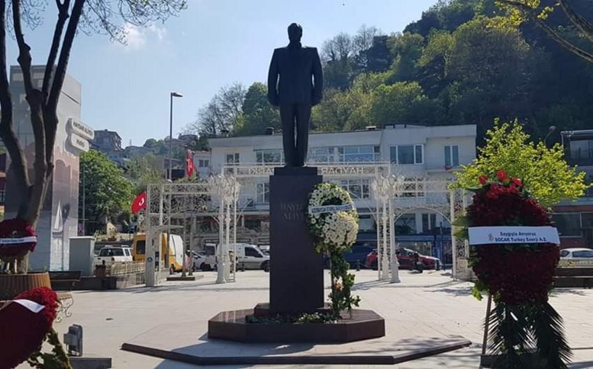 İstanbulda Heydər Əliyevin anadan olmasının 97-ci ildönümü qeyd olunub