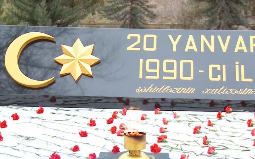 Yevlaxda 20 Yanvar faciəsinin 30-cu ildönümü qeyd olunub - VİDEO