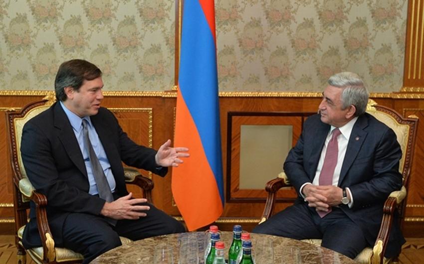 Amerikalı həmsədr Ermənistan prezidenti ilə görüşüb