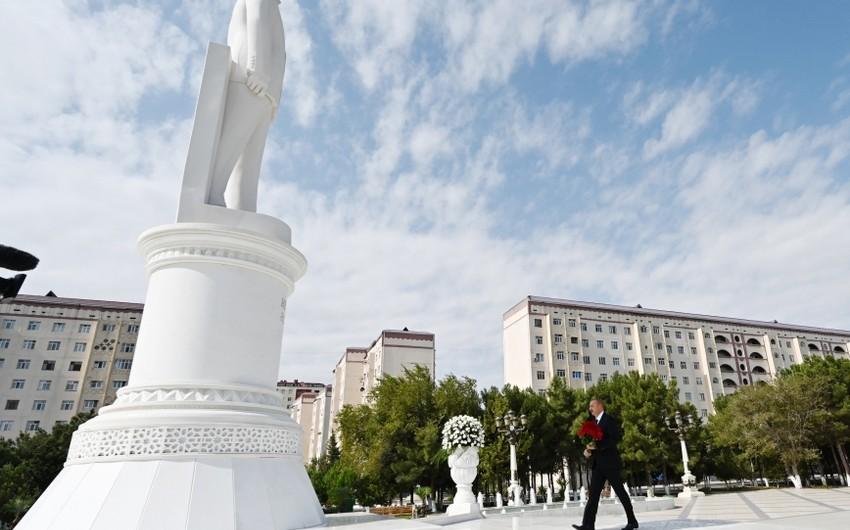 Президент Ильхам Алиев посетил Сумгайыт