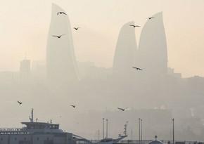 В воздухе наблюдается пылевой туман