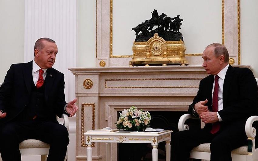 Moskvada Ərdoğanla Putin arasında görüş keçirilir