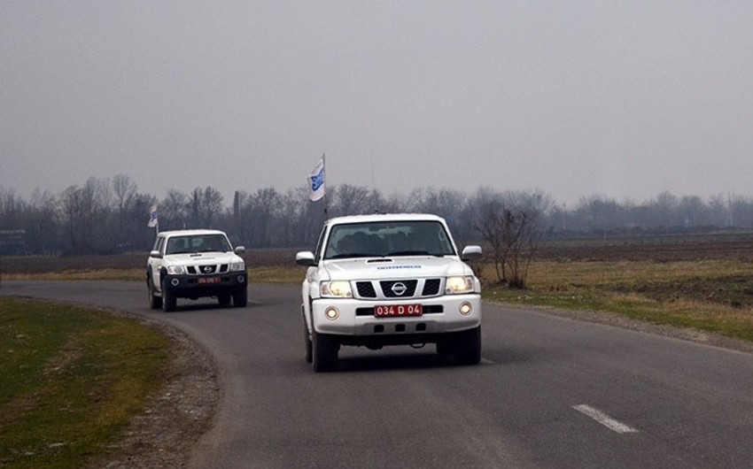 OSCE holds monitoring on state border of Azerbaijan and Armenia