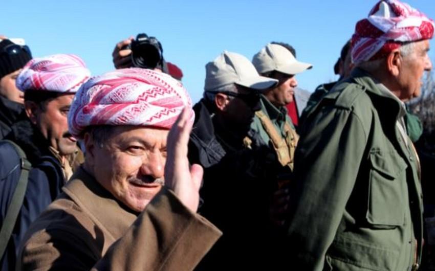 Məsud Barzani kürd döyüşçülərinin ələ keçirdiyi ərazini ziyarət edib