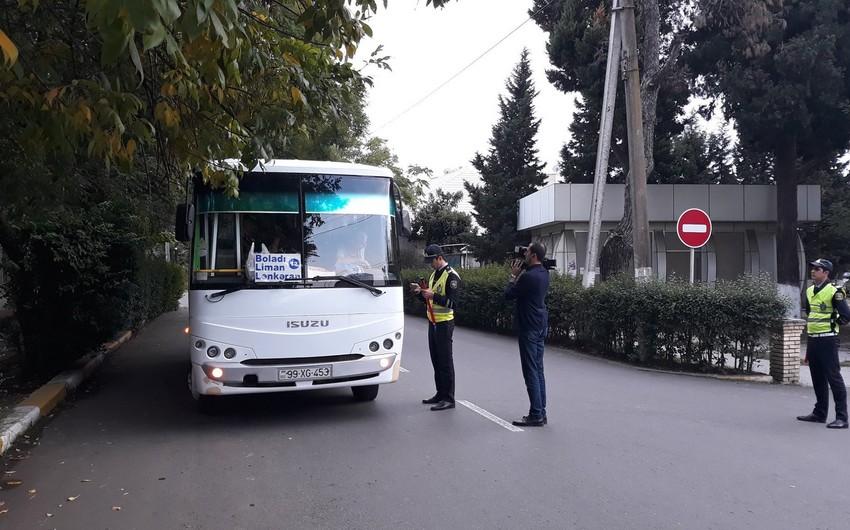 DYP Lənkəranda avtobus sürücülərinə qarşı reyd keçirib - FOTO