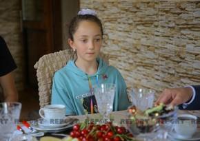 10-year-old Azerbaijani girl in Georgia who supports Azerbaijani Army - VIDEO REPORTAGE