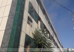 Kürdəmirin Mərkəzi Poçt binasında yanğın olub