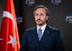 Türkiyə PA-nın rəsmisi: Birgə mübarizə aparmalıyıq, gücümüzü birləşdirməliyik