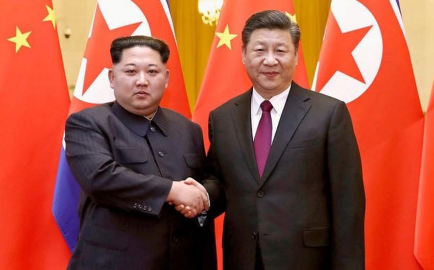 Çinin dövlət başçısı Şimali Koreya lideri ilə görüşüb