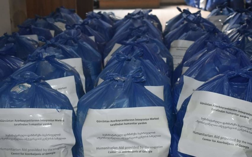 GAİM Gürcüstanda 500 aztəminatlı ailəyə ərzaq yardımı göstərib
