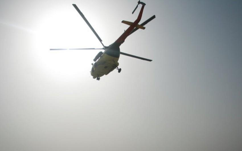 Qazaxıstanda helikopter qəzası: 1 yaralı