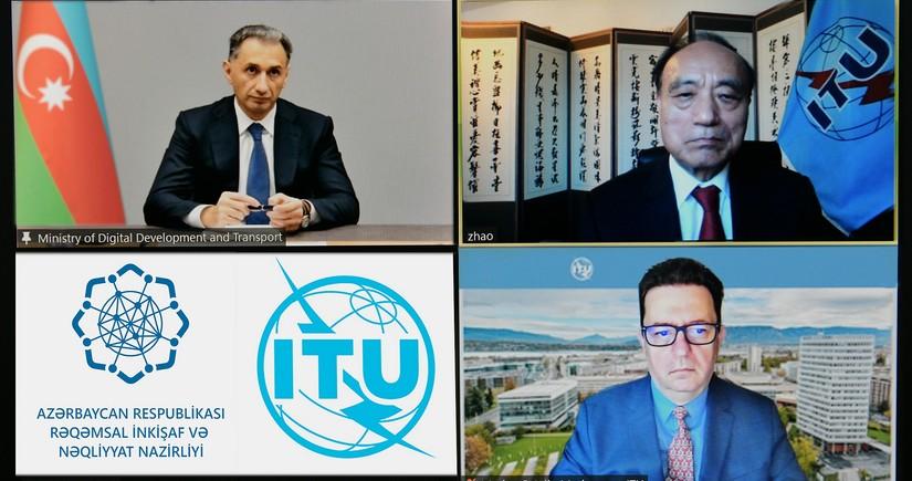 Rəşad Nəbiyev Beynəlxalq Telekommunikasiya İttifaqının rəsmisi ilə görüşüb