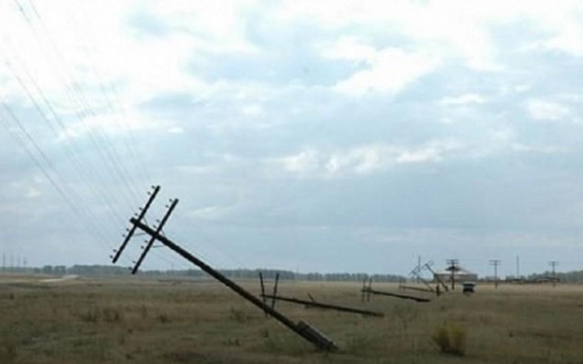 Bərdədə güclü külək elektrik təsərrüfatına ciddi ziyan vurub