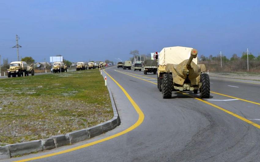 Продолжаются учения ракетных и артиллерийских подразделений Азербайджанской Армии - ВИДЕО
