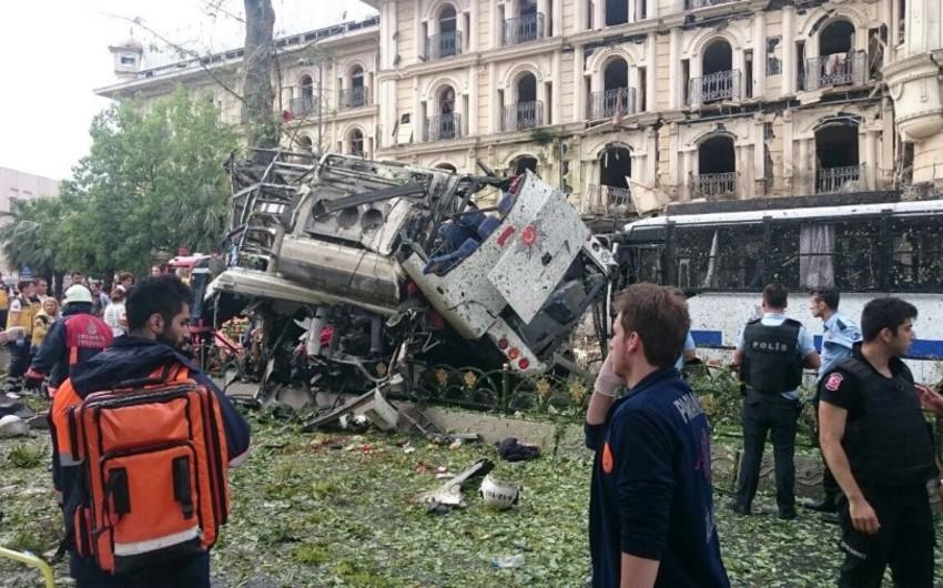 İstanbulda avtobus dayanacağının yaxınlığındakı partlayışla bağlı 4 nəfər saxlanılıb