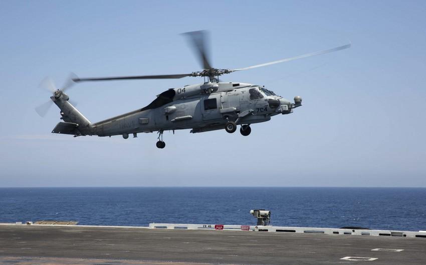 Военный вертолет упал в море у побережья Калифорнии
