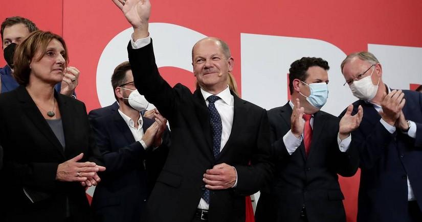 Almaniya Sosial Demokrat Partiyası parlament seçkilərində qalib gəlib