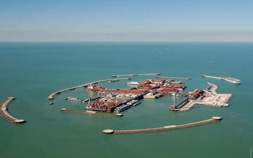 Kaşaqan yatağında on bir ayda 12 milyon ton neft hasil edilib